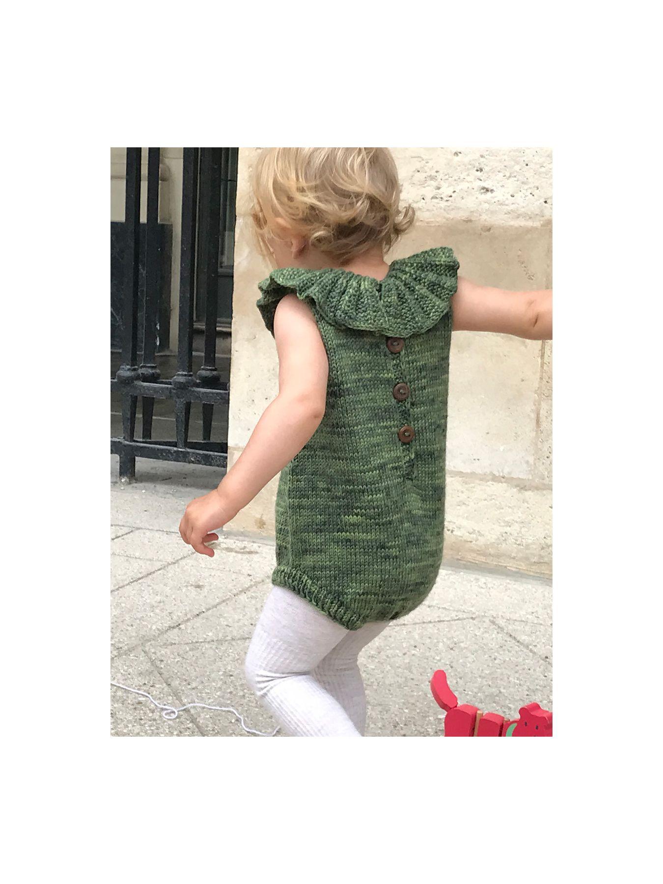 fdb9ff44fce Kalinka green moss Lily wool romper   Trendbee