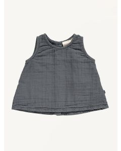 Mini Sibling charcoal grey a-line top