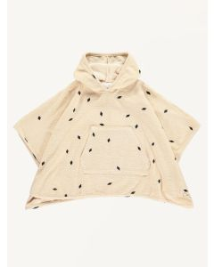 Mini Sibling oatmeal diamonds print towel cape