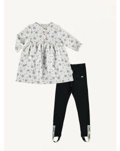 Piupiuchick flower dress Beau Loves black leggings