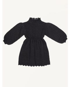 Bebe Organic black organic cotton Olivia knitted dress