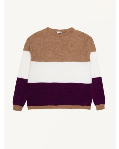 The New Society multi knitted Blocking jumper