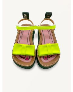 Pied Rougia lemon yellow Bow Bow sandals