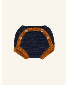 Kalinka ink blue Boyana wool shorts