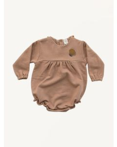 Auntie Me salmon shell organic cotton bubble onesie