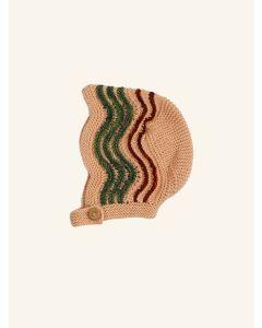 Kalinka ink peach Butterfly wool bonnet