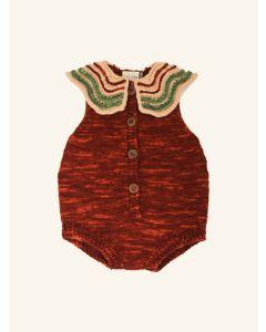 Kalinka maroon Butterfly wool romper