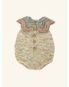 Kalinka beige Butterfly wool romper