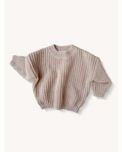 Kids of April almond cotton chunky sweater