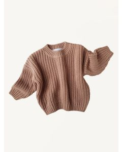 Kids of April toffee cotton chunky sweater