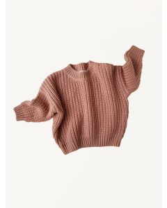 Kids of April terracotta cotton chunky sweater