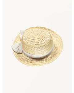 Bebe Organic straw Claudette boater hat