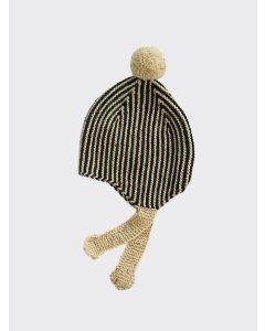 Kalinka Kids coal grey Divna wool hat