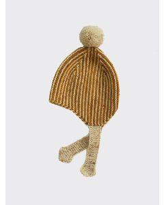 Kalinka Kids gold Divna wool hat