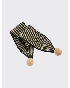 Kalinka Kids coal grey Divna wool scarf