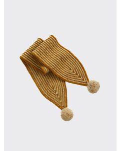 Kalinka Kids gold Divna wool scarf