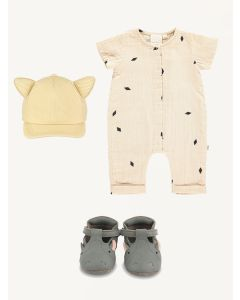 Mini Sibling overall Beau Loves cap Donsje hippo shoes