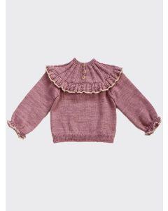 Kalinka Kids lilac Dove wool sweater