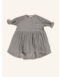Piupiuchick grey ribbed cotton dress