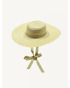 Bebe Organic straw Elis hat