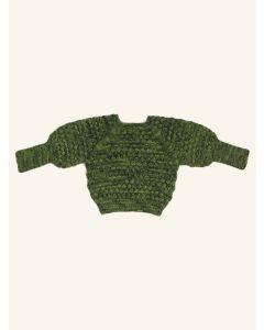 Kalinka moss green Elissa wool sweater