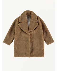 The New Society camel teddy Freya coat