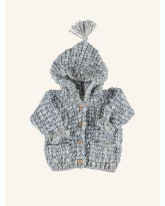 Piupiuchick grey knitted hooded jacket
