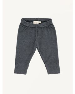 Mini Sibling charcoal grey baby slim pants