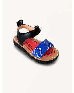 Pied Rougia jelly blue Izy Bandana sandals