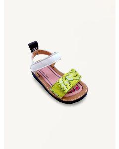 Pied Rougia lemon yellow Izy Bandana bow sandals