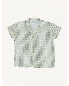 Bebe Organic white dot print Jack linen shirt