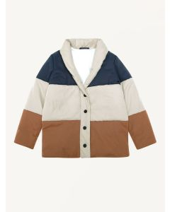 The New Society tricolor padding Jude coat