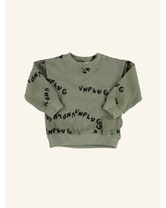 Piupiuchick khaki print cotton sweatshirt