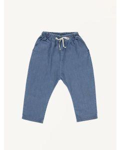 Bebe Organic blue Karl cotton pants