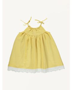 Bebe Organic yellow Katja linen dress