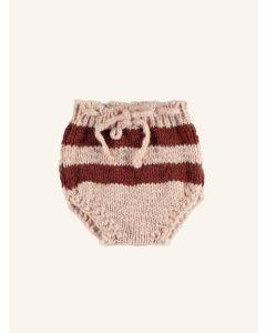 Piupiuchick pink and brick knitted shorts