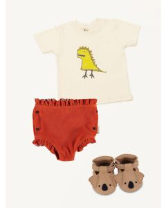Piupiuchick frill shorts KO t-shirt Donsje koala Spark shoes