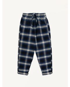 The New Society checked indigo Koe pants