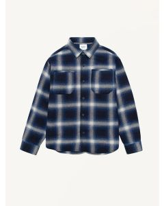 The New Society checked indigo Koe shirt