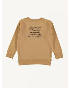 The New Society organic cotton camel Leon sweatshirt