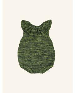 Kalinka green moss Lily wool romper