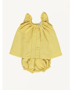 Bebe Organic yellow Maria linen set