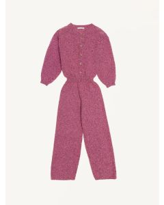 The New Society pink knitted Maia jumpsuit