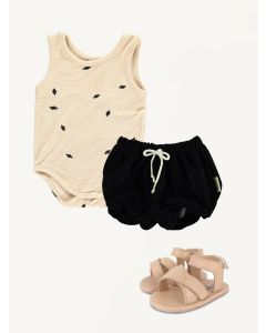 Mini SIbling bodysuit Piupiuchick shorts Donsje shoes