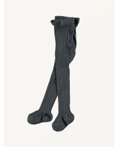 Mini Sibling charcoal grey ribbed tights