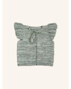 Kalinka water green Natalie wool vest