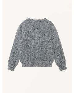 The New Society grey knitted Noel jumper