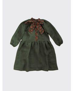 Kalinka Kids green Norma linen dress
