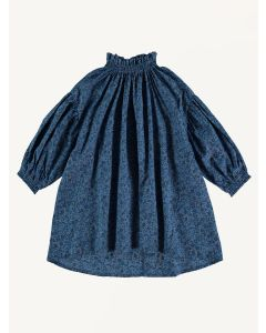 The New Society blue liberty Olivia cotton dress