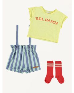 Piupiuchick strap shorts t-shirt and socks